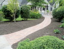 residential paver walkway finished